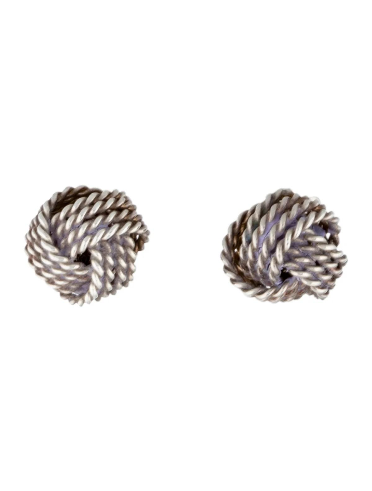 Tiffany & Co. 18K Twist Knot Earrings