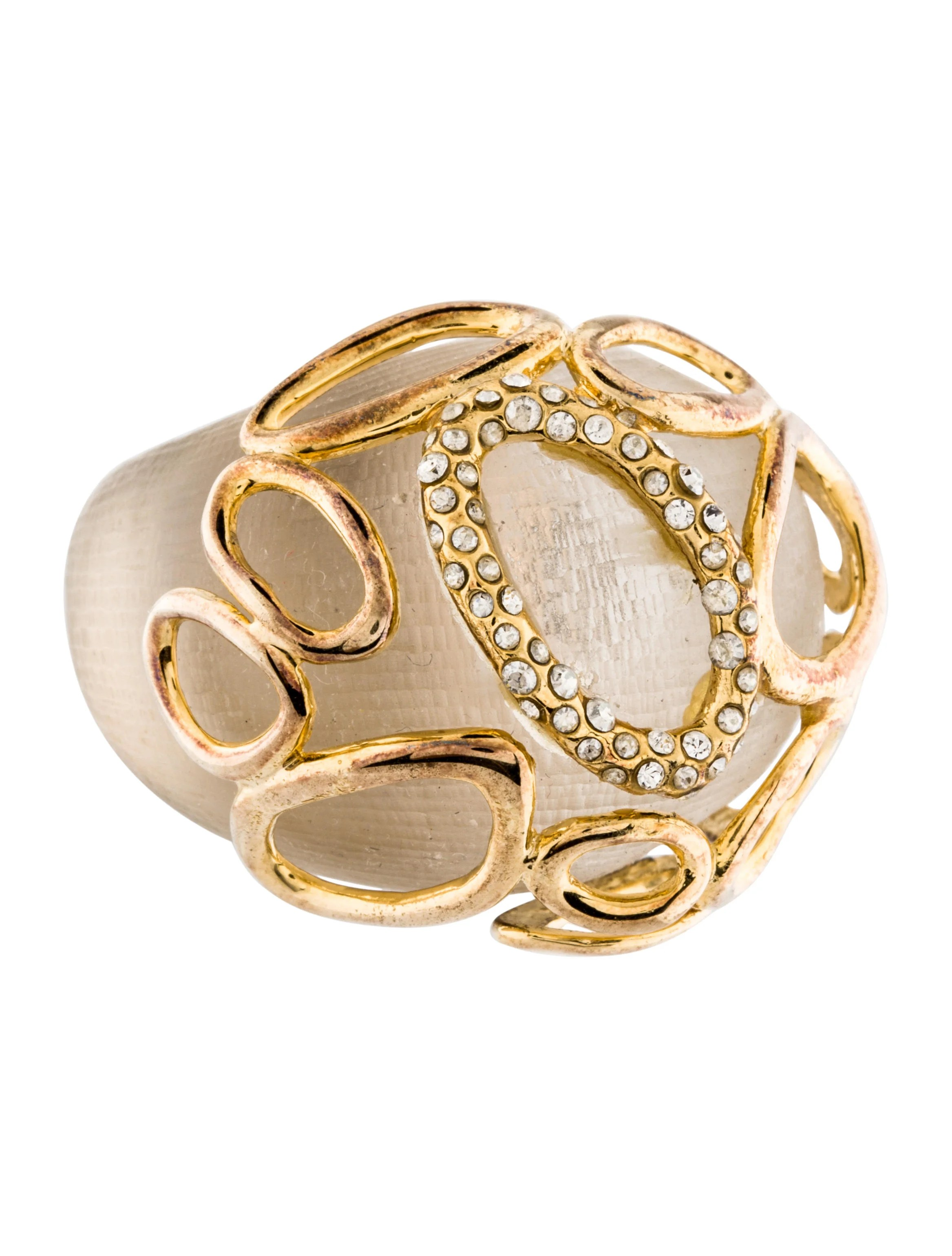Alexis Bittar Lucite Dome Cocktail Ring