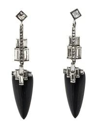Alexis Bittar Coral Deco Lucite & Crystal Baguette Drop ...