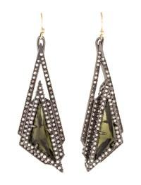Alexis Bittar Crystal Pyramid Drop Earrings - Earrings ...