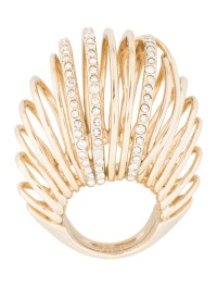 Alexis Bittar Crystal Caged Dome Ring