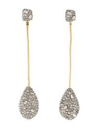 Alexis Bittar Crystal Pav Tear Drop Earrings - Earrings ...