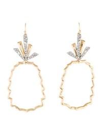 Alexis Bittar Crystal Leaf Pineapple Wire Earrings ...