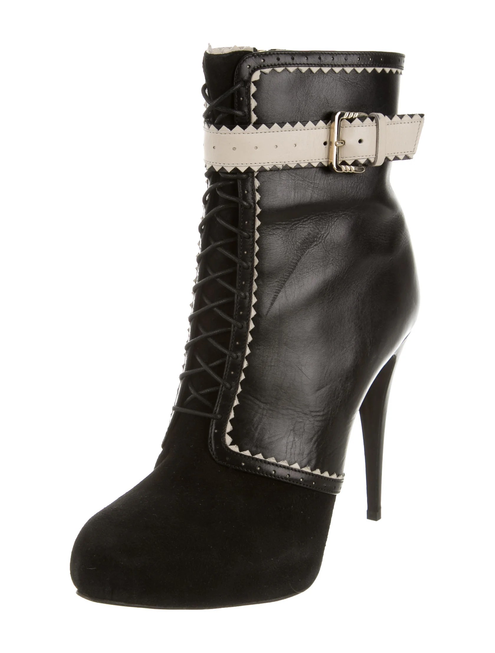 Jason Wu Leather Round Toe Booties Shoes Jas22484