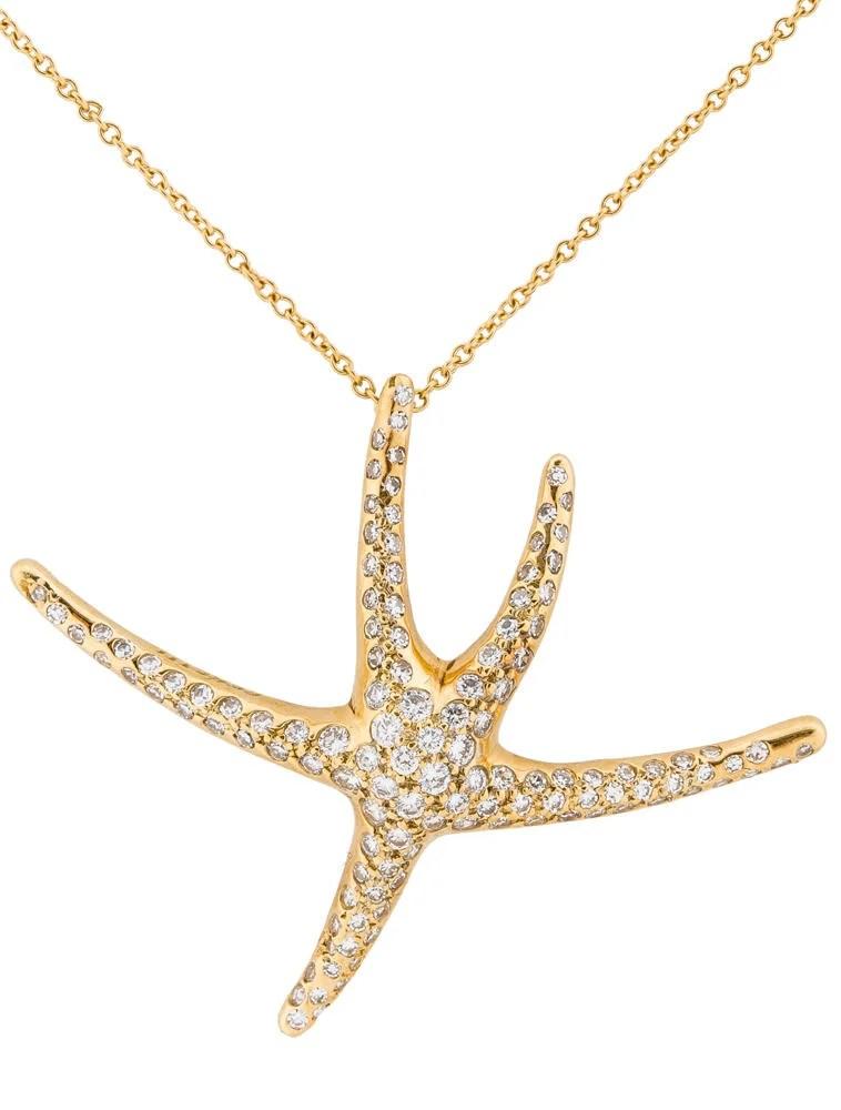 Tiffany Co 100ctw Diamond Starfish Necklace