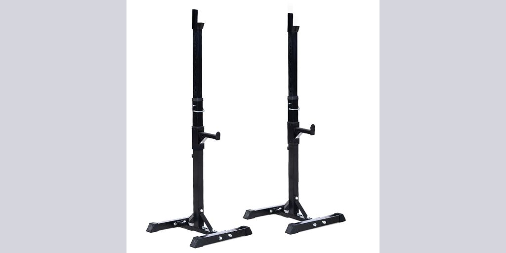 Goplus Pair Of Adjustable Standard Squat Stands Solid