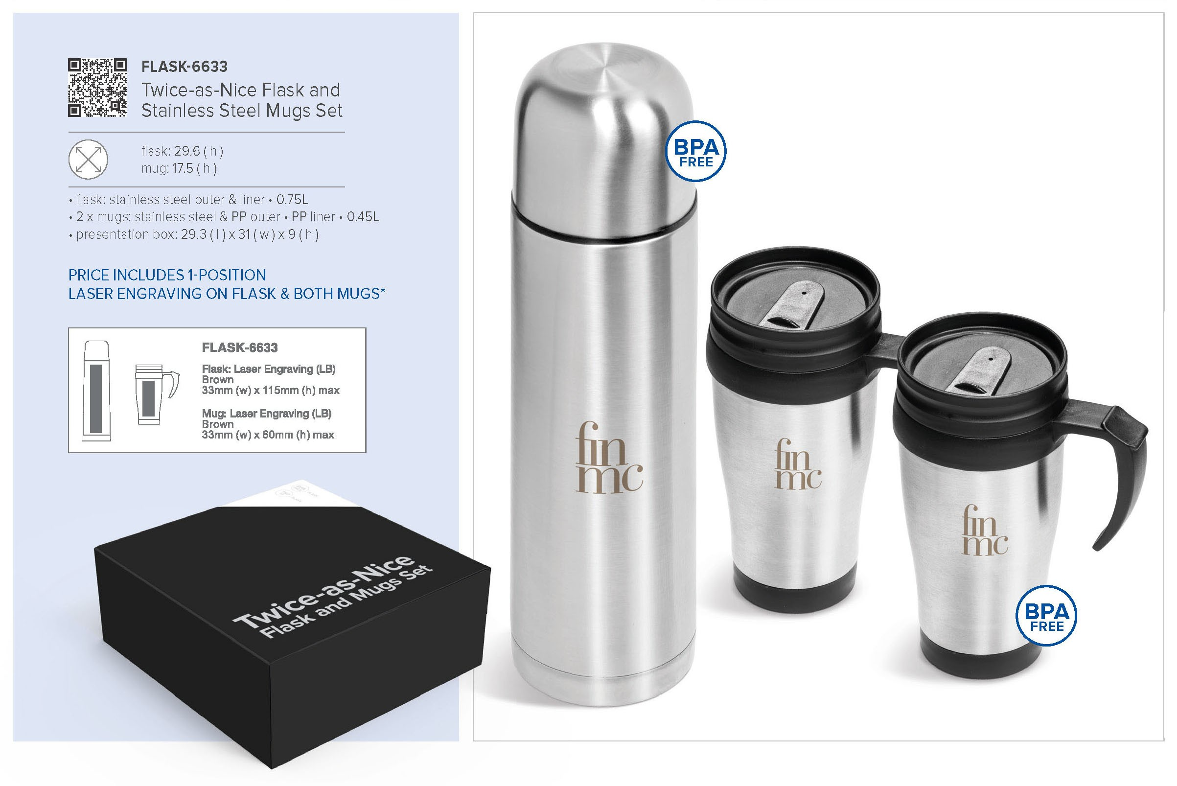 Nice Travel Mug Twice As Nice Flask And Stainless Steel Mugs Set Flask 6633
