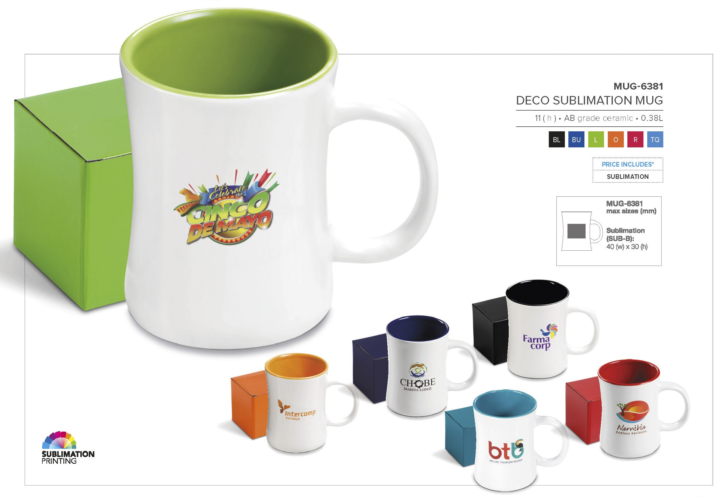 Deco Mug Deco Sublimation Mug 380ml Mug 6381