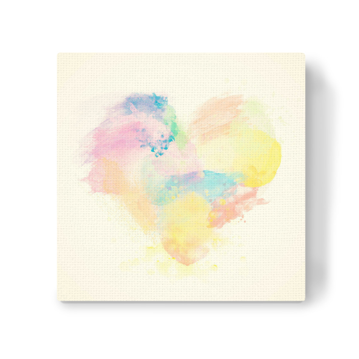 Colorful Watercolor Heart On Canvas Als Leinwand Bei Artboxone Kaufen