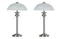 Set of 2 Brushed Nickel Desk Lamps | Bob's Discount Furniture