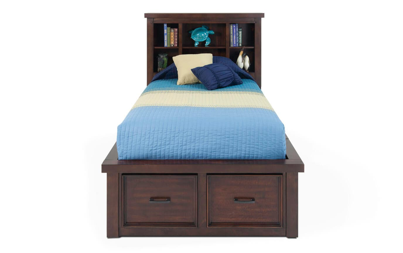 Bookcase Bed Hudson Youth Twin Storage Bookcase Bed