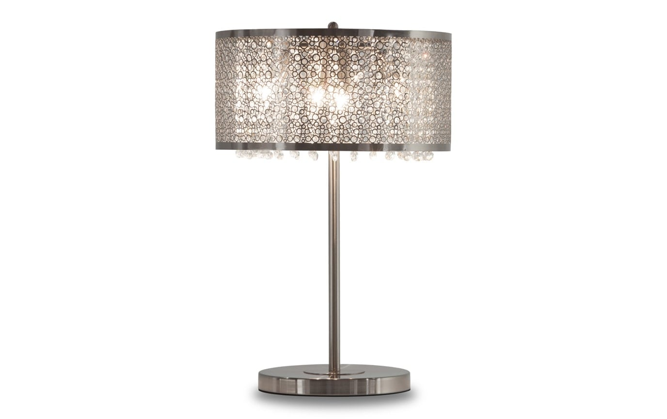 Crystal Lamp Glitter Silver Cut Out Crystal Lamp