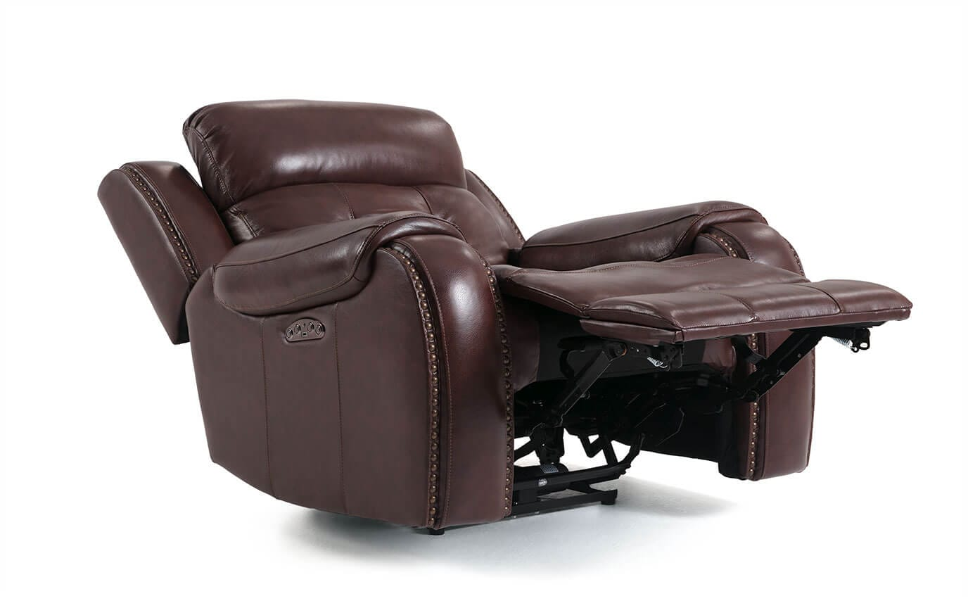Electric Recliner Leather Chairs Magellan Power Reclining Leather Recliner
