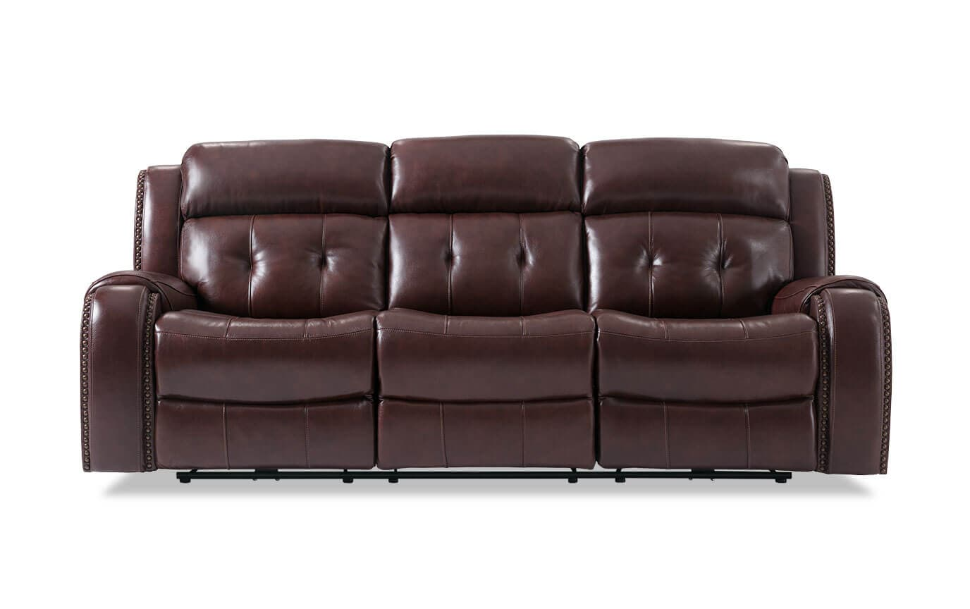Sofa With Recliner Magellan Leather Power Reclining Sofa