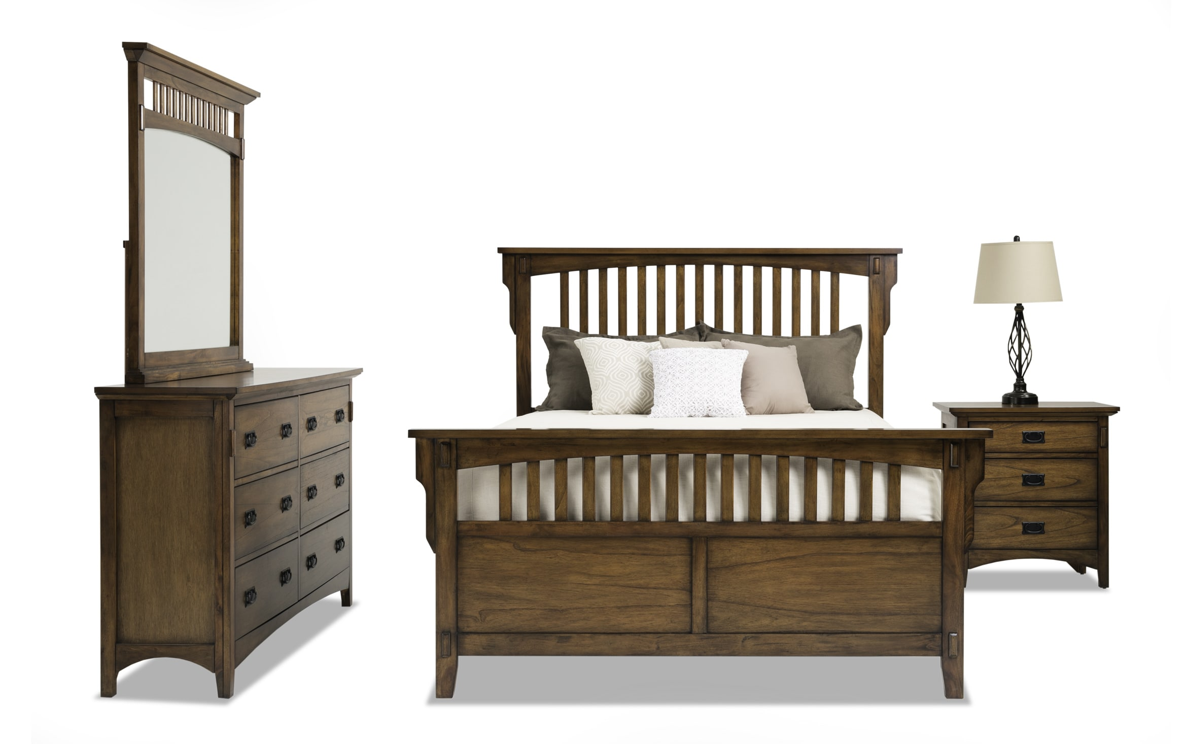 Mission Oak Ii Twin Panel Bedroom Set Bob S Discount Furniture