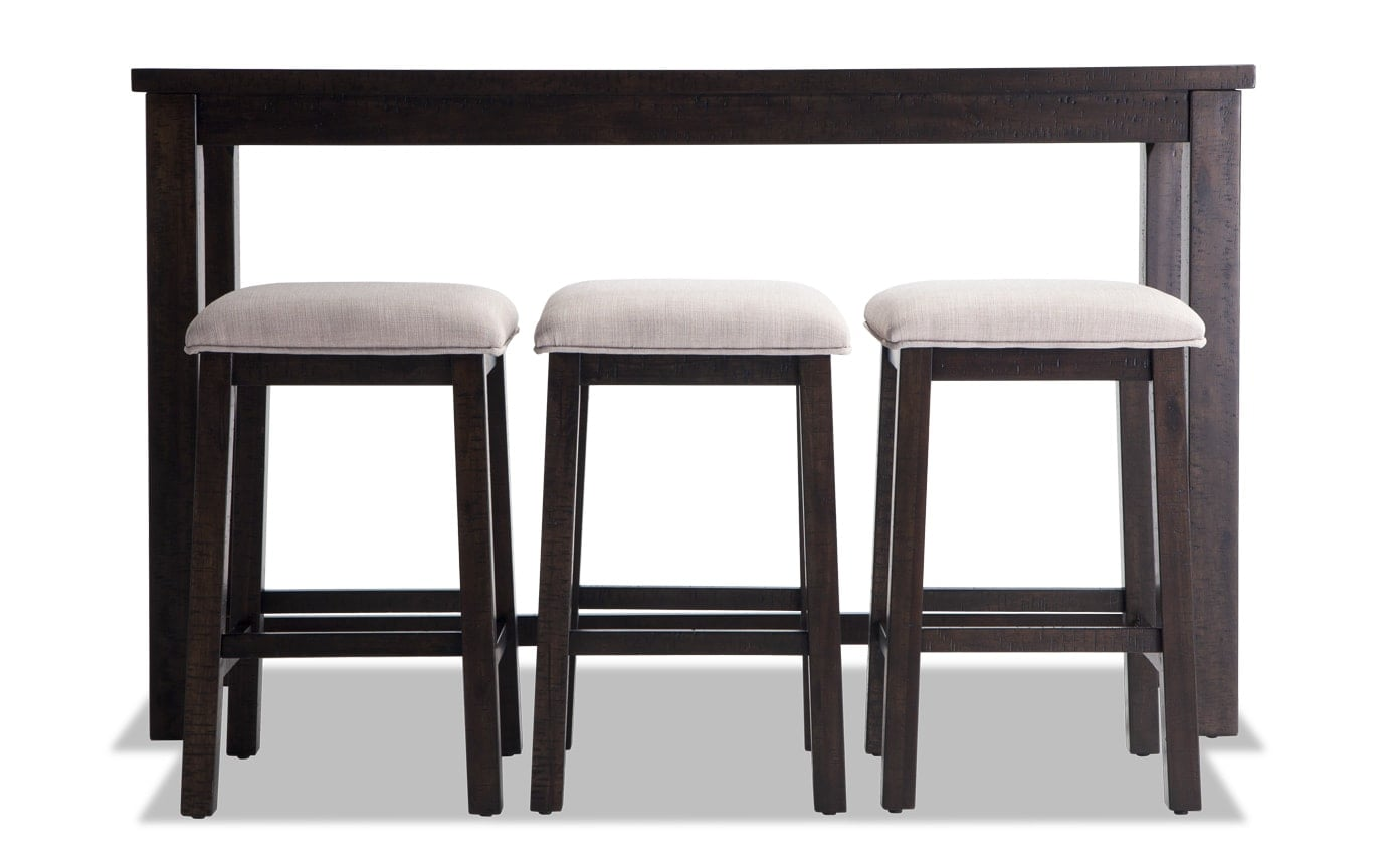 Bar Table Set Arcadia 4 Piece Bar Table Set Bob 39s Discount Furniture