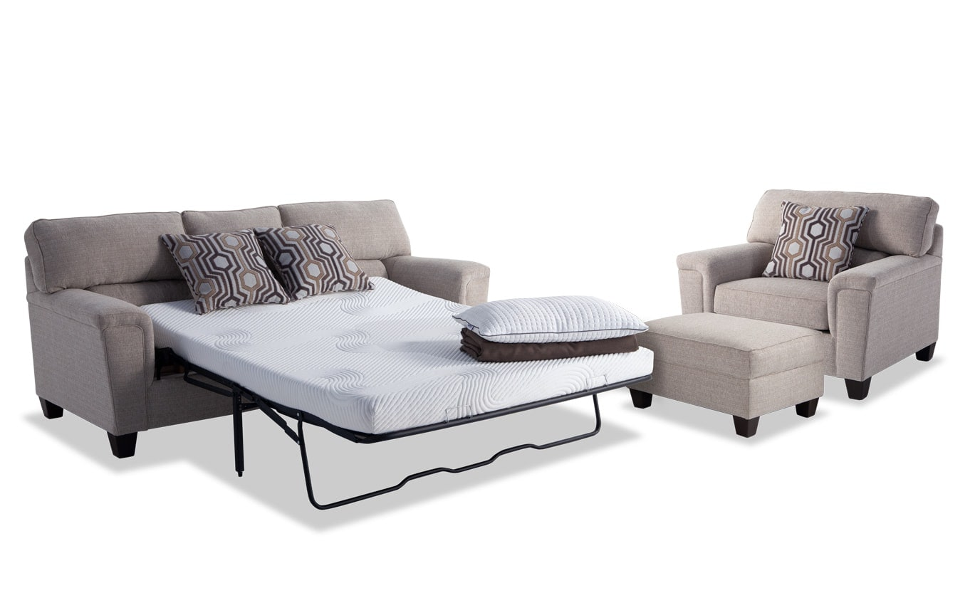 Queen Sofa Bed Ottoman Calvin Bob O Pedic Queen Sleeper Sofa Chair Storage Ottoman