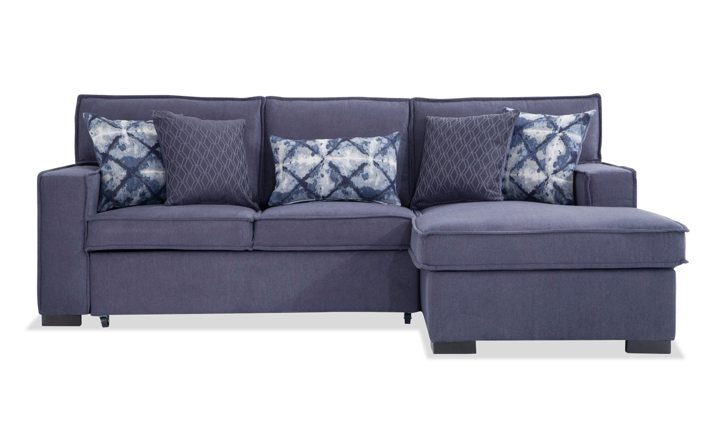 Couch Couch Playscape Denim Left Arm Facing Sectional