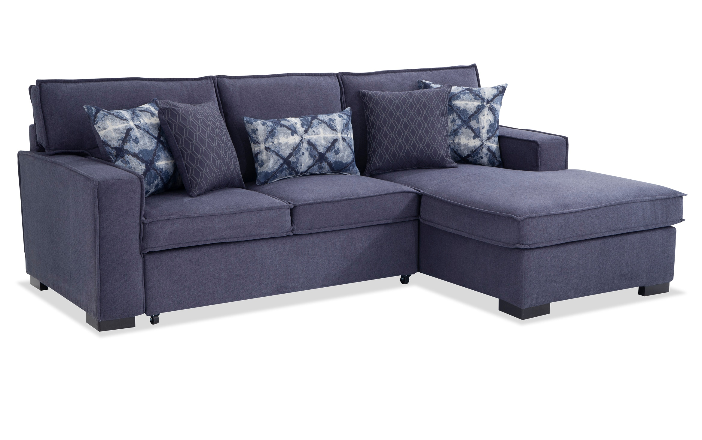 Playscape Denim Left Arm Facing Sectional Bob S Discount Furniture