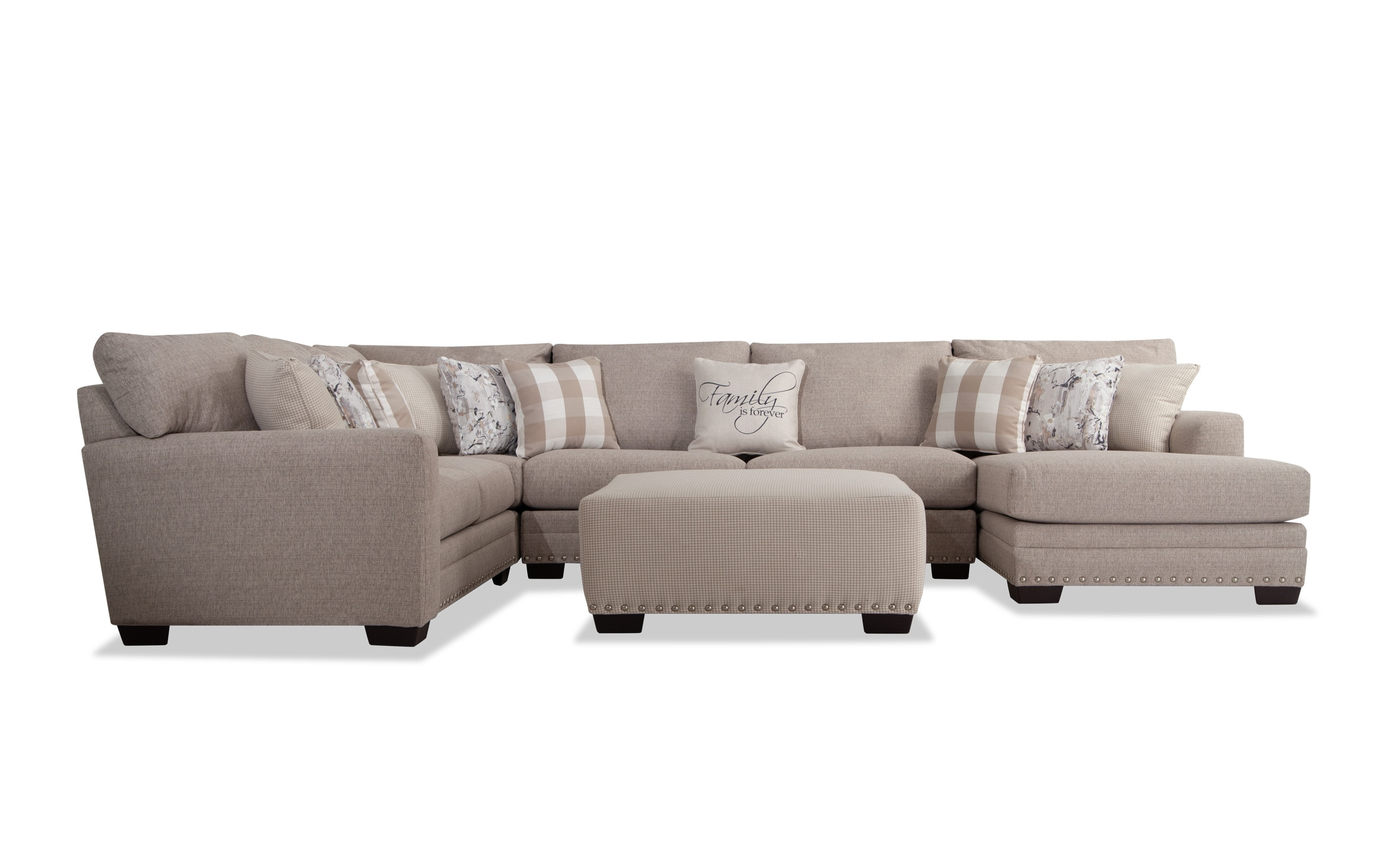 Cottage Chic 5 Piece Left Arm Facing Sectional Bob S Discount Furniture