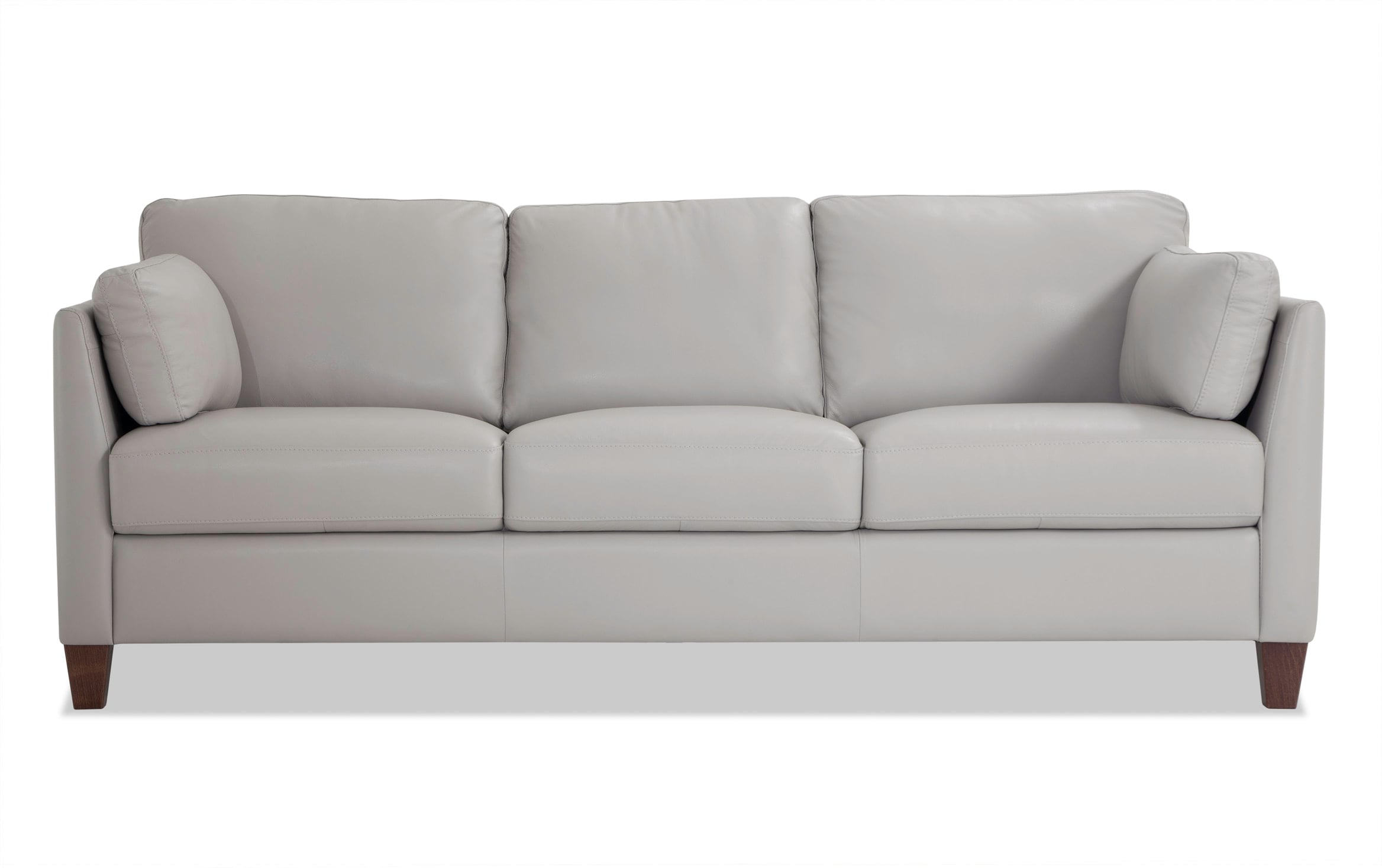 Antonio Light Gray Leather Sofa Bob S Discount Furniture