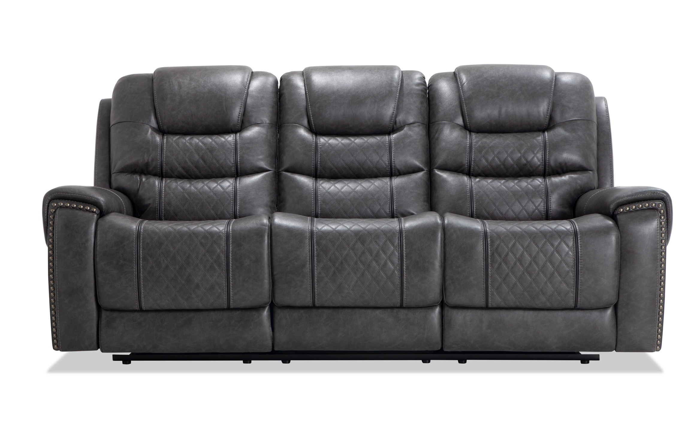 Magnus Charcoal Power Reclining Sofa Bob S Discount Furniture