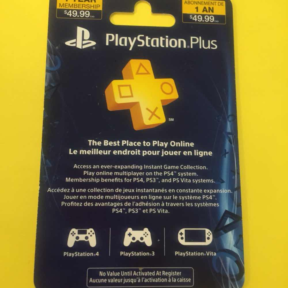 Playstation Plus 12 Meses Playstation Plus One Year Membership Gift Card Playstation Store