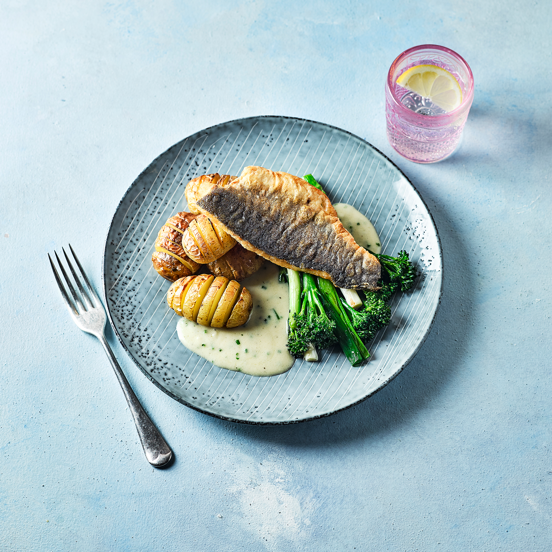 Box Spring Sea Bass With A Chive Velouté Sauce Recipe | Gousto