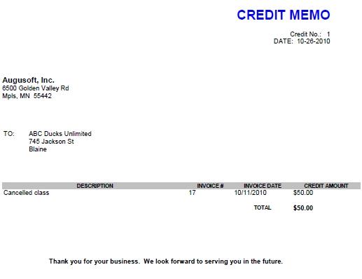 8 Credit Memos - credit memo template