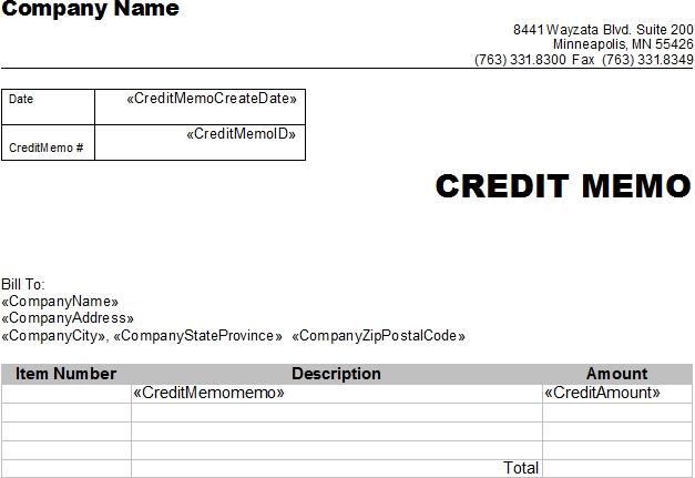 8 Credit Memo Templates Notice Memo Official Meeting Memo 7+ - sample credit memo