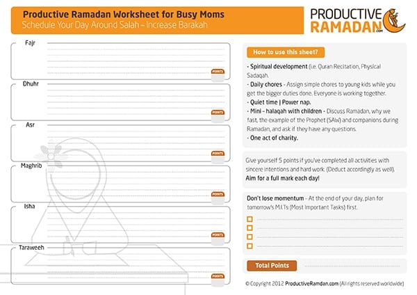 The Mega Ramadan Tools Review Worksheets, Planners, Apps and