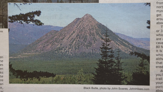 Black Butte, a volcano near Mount Shasta in Northern California