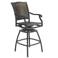 The Plaza Woven Wicker Outdoor Bar Stool | Summer Classics ...