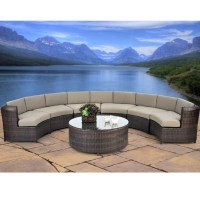 Serenity 7-Piece Semicircle Sectional Sofa Set All Weather ...
