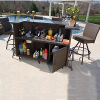 Vento Outdoor Bar and Stools - Patio Furniture by Alfresco ...