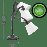 OttLite Marietta Table Lamp - Antiqued Bronze   Desk and ...