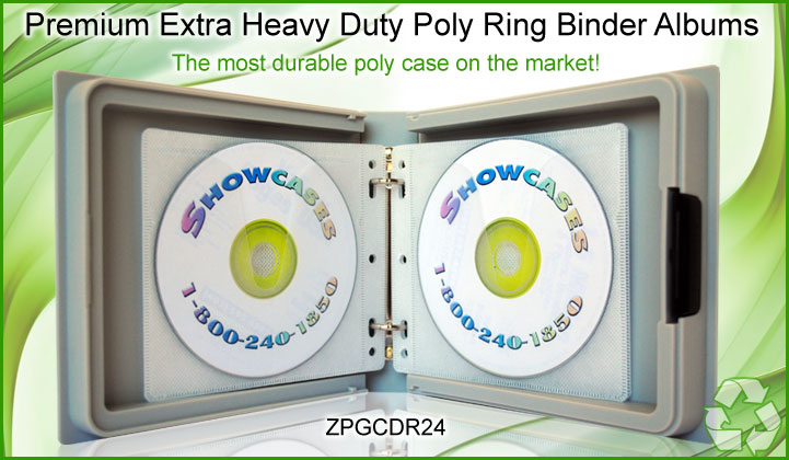 Premium Extra Heavy Duty Poly Ring Binder Albums