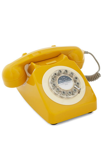 Ring True Desk Phone in Yellow