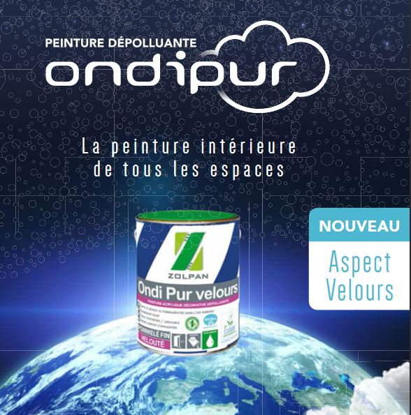 Application Decoration Interieur Ondipur Velours - Peinture - Zolpan
