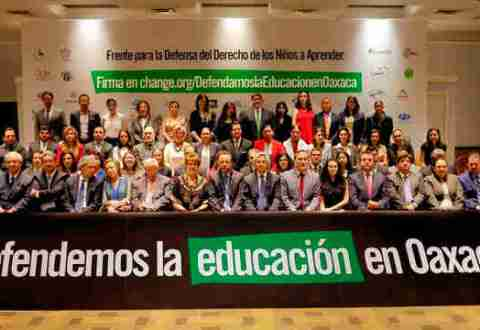 Llaman a defender la educación en Oaxaca
