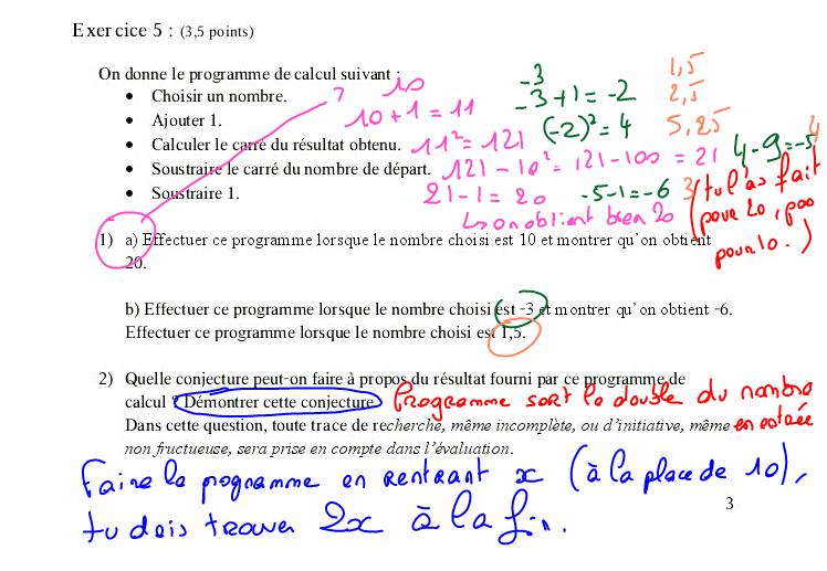 exemple cv prof de maths
