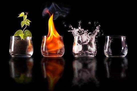 los cuatro elementos naturales
