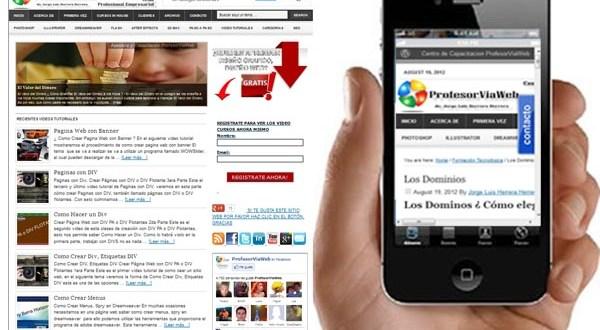 web en celulares