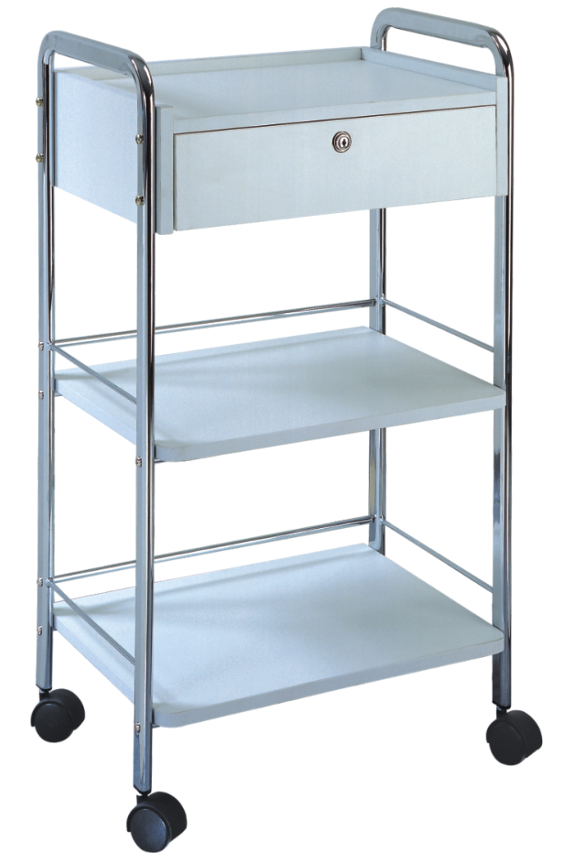 Beauty Trolleys 1 Drawer Lockable Trolley
