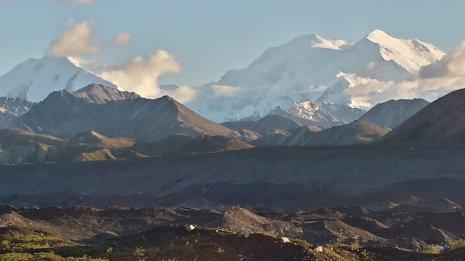 Denali viewed from the Muldrow glacier.