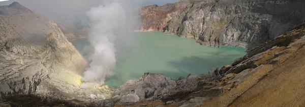 Kawah Igen's caldera. Pictures are the great instigator but they cannot fully encompass a moment.