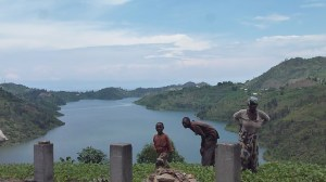 A family near Lake Kivu