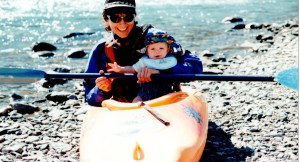 Louise and Louis kayaking at 3mths copy