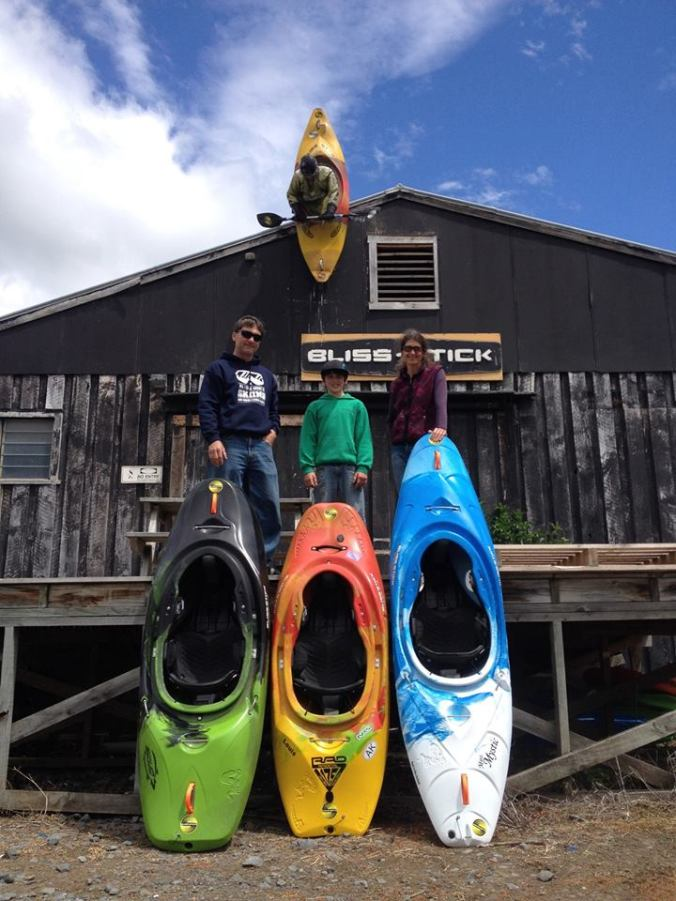 The family and their new boats