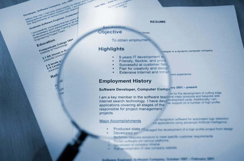 Conducting Your Own 6-Second Resume Scan - Professional Resume Writers